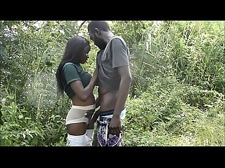 Hausa boy Habib meets the love of his life Queen in the bush at Jabi Park lake and cums in her..