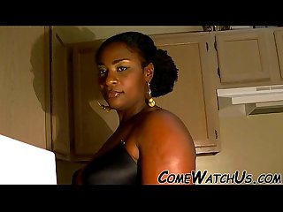 Senual sex in kitchen by ebony couple
