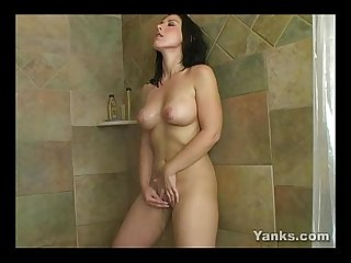 Sexy Stella Cums In The Shower