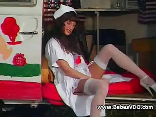 Bored nurses doing lesbian sex