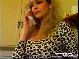 Dirty blonde granny wants to get fucked