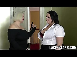 Laceystarr chubby ladies spunked on their Hot faces by bbc