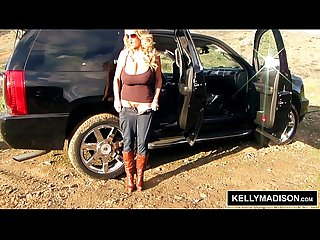 Kelly madison fingering outdoors