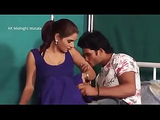 42 shruti Bhabhi hot doctor romance with patient boy in blue saree hot scene