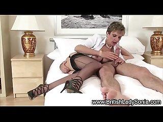 Sexy mature babe fucks hard