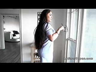 Latina real estate agent fucks at work