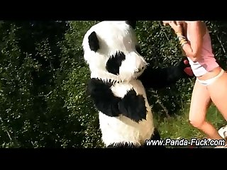 Fetish teen getting off with toy panda
