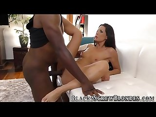 Babe rides black anaconda