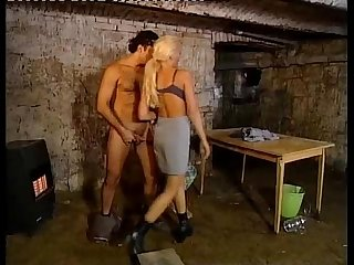 Hot blonde corrupts a jailer for fucking