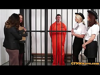 British police dominas humiliate sub in cell