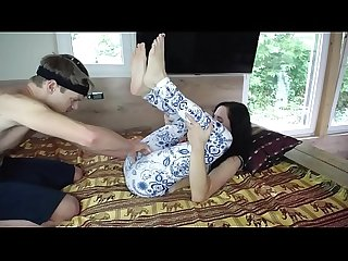 Petite Stepsister Pounded - CUM ON YOGA PANTS - Real Amateur