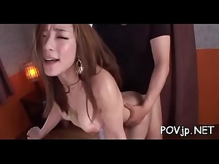 Orgasmic pov scene with oriental