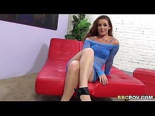 Emily Eve Fucks Mandingo's Big Black Dick POV Style