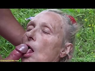 horny 85 years old granny rough outdoor fucked