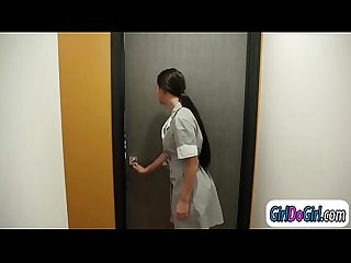 Kristens house maid n her so called friend force her to lick