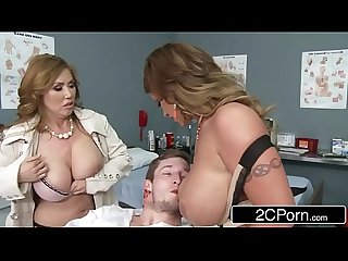 Mistress Kianna Dior & Wife Eva Notty Having a Blowjob Competition in the E.R.