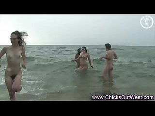 Real amateurs naked outdoor beach orgy