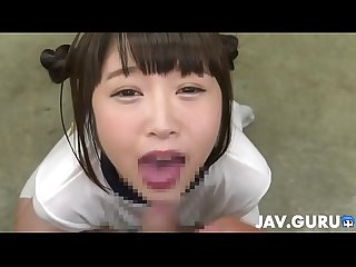 Princess in maid cosplay blowjobing a few dudes 3