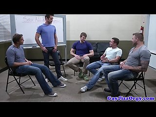Groupsex gay hunks sucking hard cock