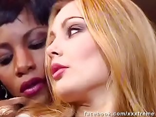 Lesbian Interracial Black Girl & Blonde --- Laure Sainclair & Mata Lana (European Babes)