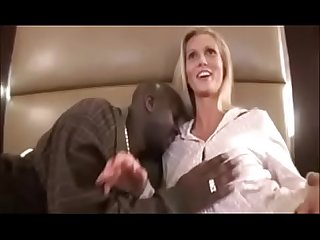 Hot Blonde Milf w Big Tits Fucks a Big Black Cock in Interracial Wife Video