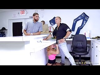 Brazzers cali carter big tits at work