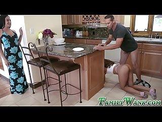 Naughty esperanza del horno wants stepdads huge cock