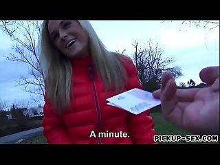 Eurobabe shanie ryan picked up on the street railed for cash