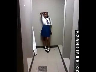 School girl twerking