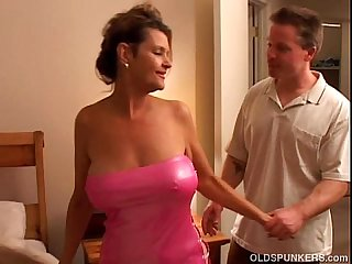 Raven is a raunchy older chick who loves to fuck lucky younger guys
