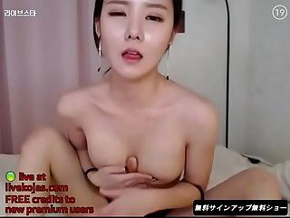 Korean bj neat gets wet live at livekojas com