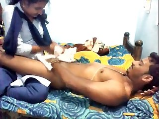 Hot Desi college girl fucking with her bf