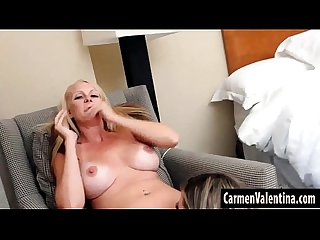 Big tit mature blonde slut eats Carmen valentina juicy pussy