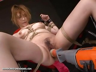 Extreme uncensored japanese device bondage sex