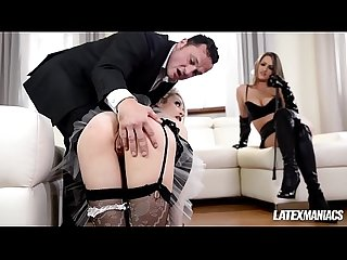 Latex domina kendra star dominates maid chessie kay in bdsm milf fuck