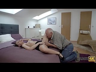 Daddy4k period fingers of tricky Old guy prepare Young pussy for drilling
