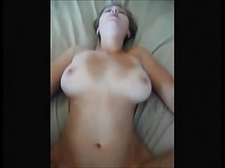 Big boobed wife fucked on real homemade