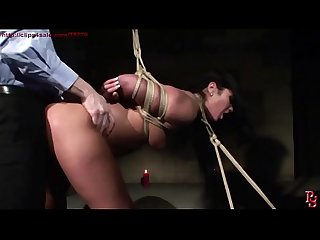 Tied Sex bomb dominated and fucked.BDSM bondage sex movie.