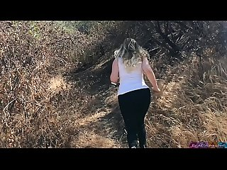 Shooting semi blonde Creampie d by personal trainer outdoors erin electra