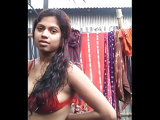 Hot Desi Girl in Bra Stripping
