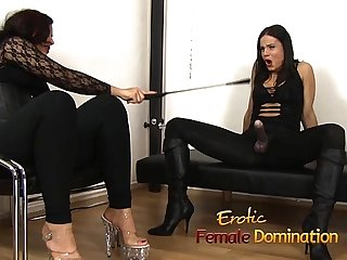 Loser endures everything that two hot mistresses throw at him 6