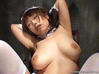 Japanese cutie gets teased and pleased