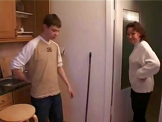 Mommy catches stepson in kitchen
