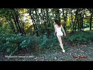 Real public anal sex near the Road with cumshot in mouth mia bandini
