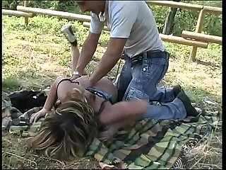 A young big tits girl looks a bitch in a park and she S banged by a stranger