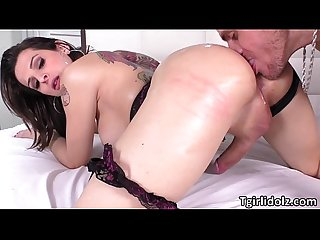 Tgirl danny bendochys appreciates deep anal sex
