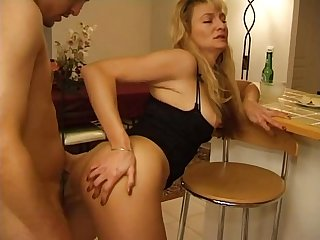 French mature blonde from exposedcougars period com anal fucked by young man