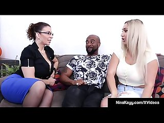 Naughty nympho nina kayy fucks her man attorney sara jay excl