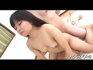 Cute asian receives lusty shaving before unfathomable ass fucking