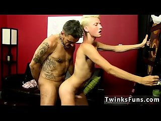 Sexy straight big cock men Collin and his step-son Benjamin become a